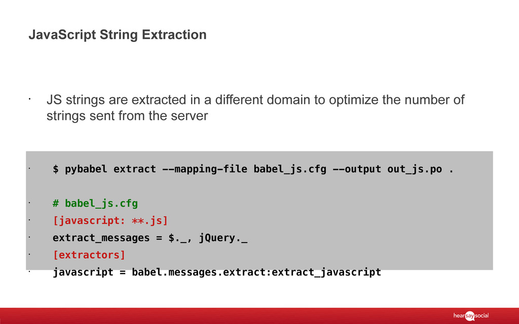 JavaScript String Extraction • JS strings are e...