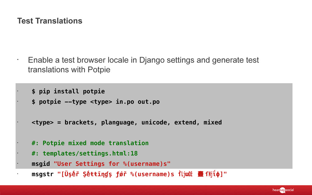 Test Translations • Enable a test browser local...