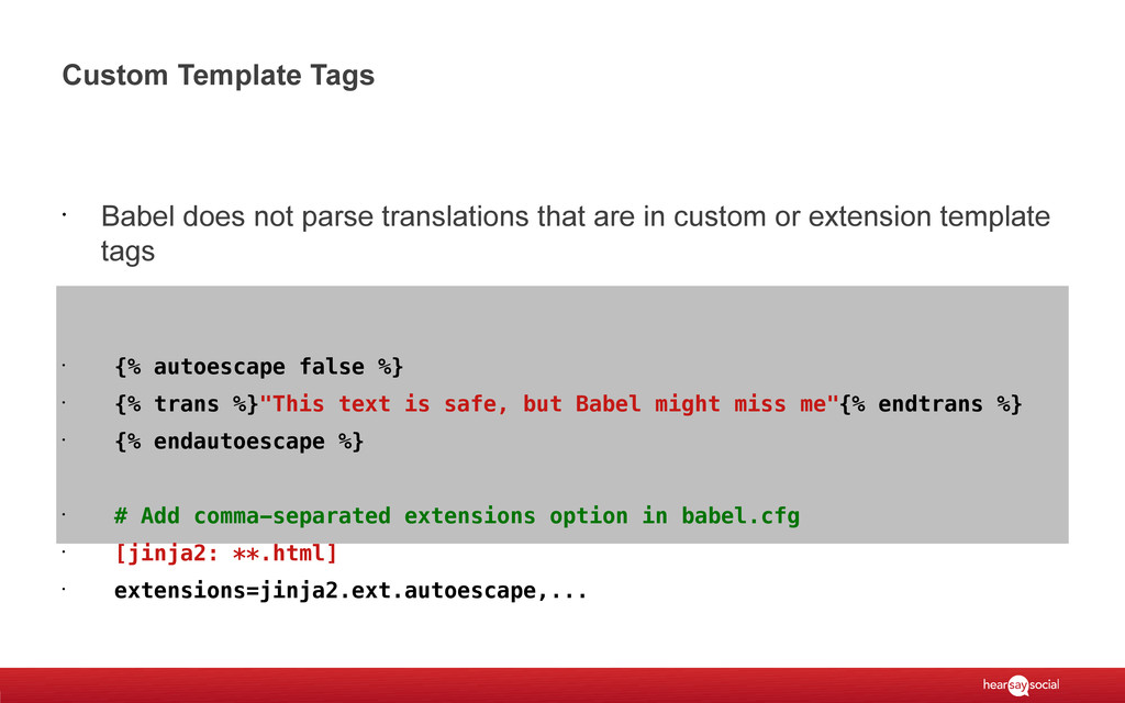 Custom Template Tags • Babel does not parse tra...