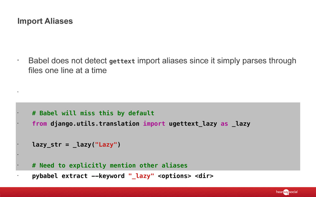 Import Aliases • Babel does not detect gettext ...