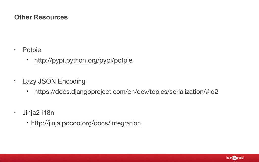 Other Resources § Potpie § http://pypi.python.o...