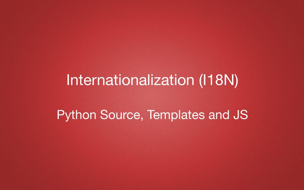 Internationalization (I18N) Python Source, Temp...
