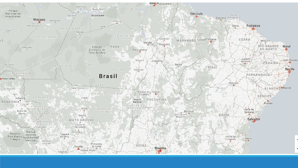 Mapa da internet móvel no Brasil