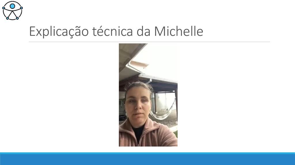 Explicação técnica da Michelle