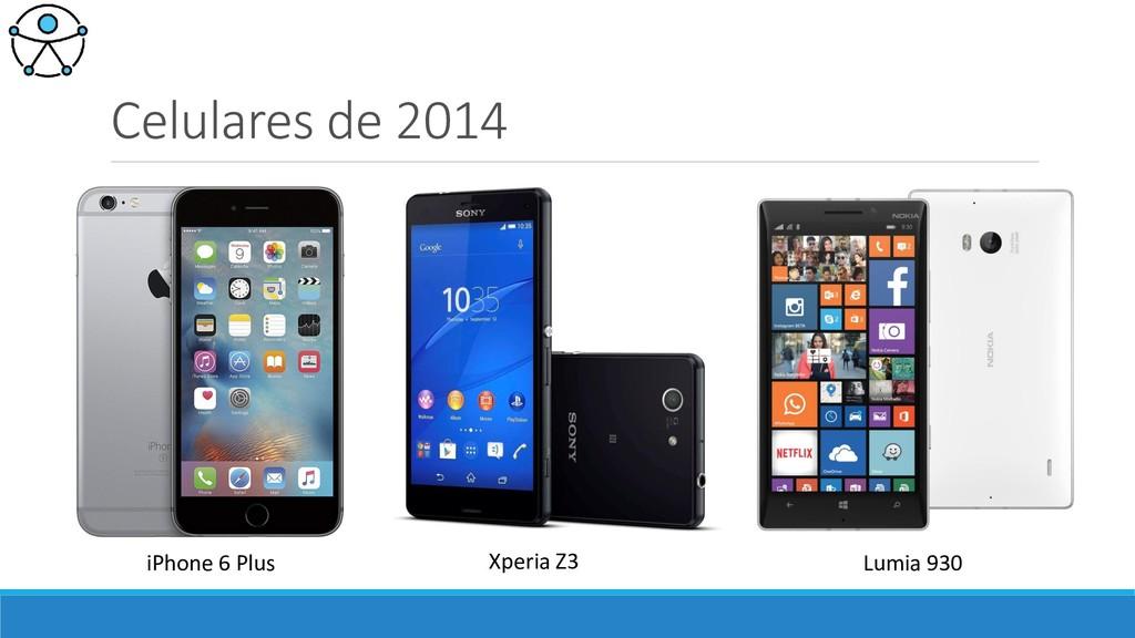 Celulares de 2014 iPhone 6 Plus Xperia Z3 Lumia...