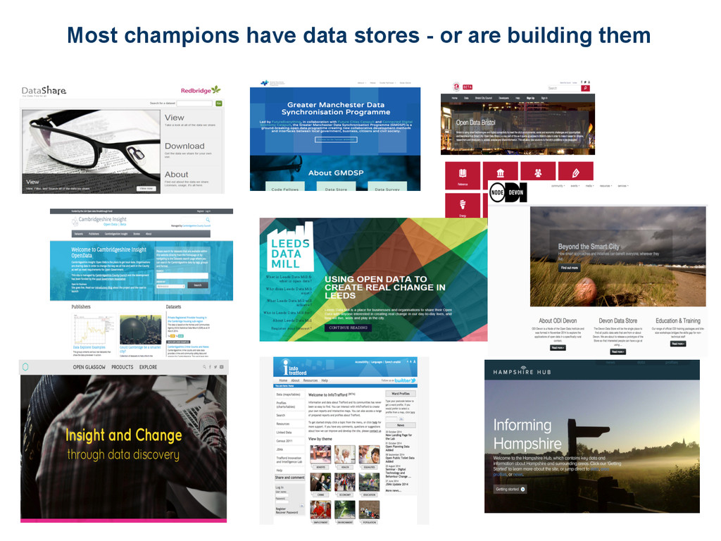 Most champions have data stores - or are buildi...