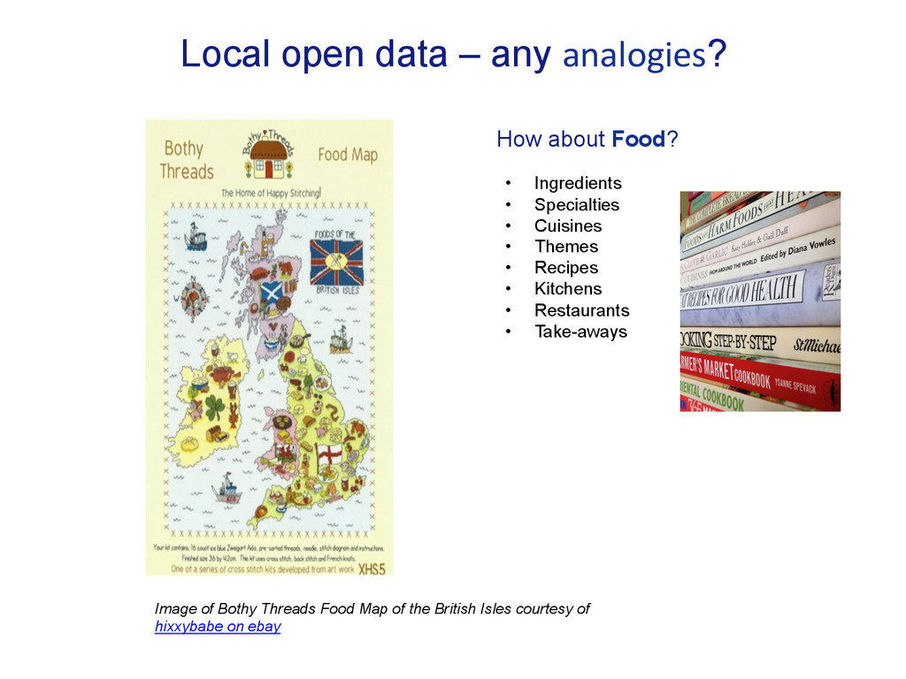 Local open data – any analogies? How about Food...