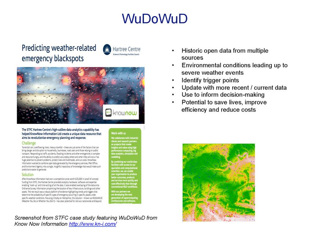 WuDoWuD • Historic open data from multiple sou...