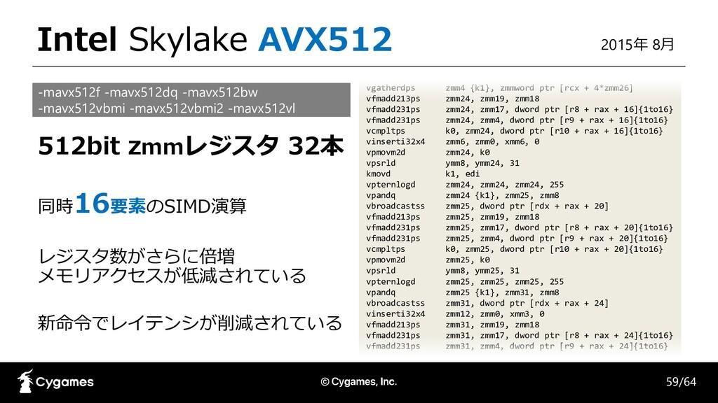 Intel Skylake AVX512 vgatherdps zmm4 {k1}, zmmw...