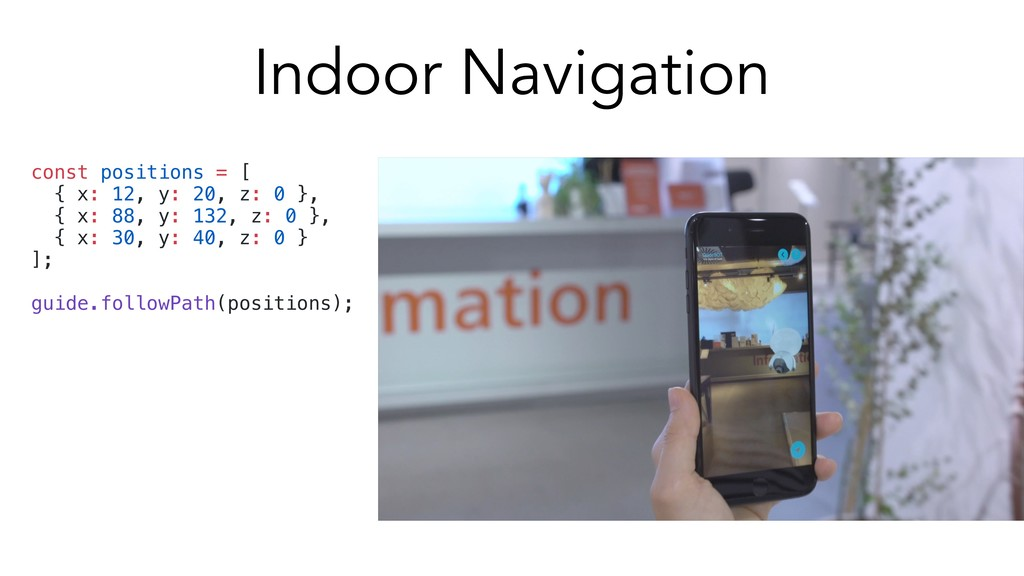 Indoor Navigation const positions = [ { x: 12, ...