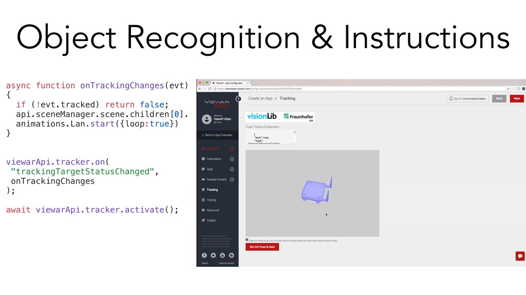 Object Recognition & Instructions async functio...