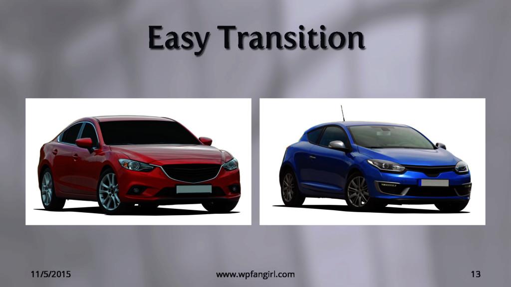 Easy Transition 11/5/2015 www.wpfangirl.com 13