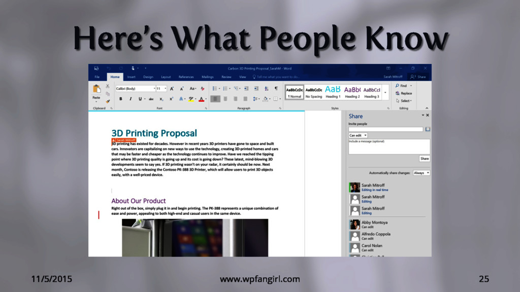 Here's What People Know 11/5/2015 www.wpfangirl...