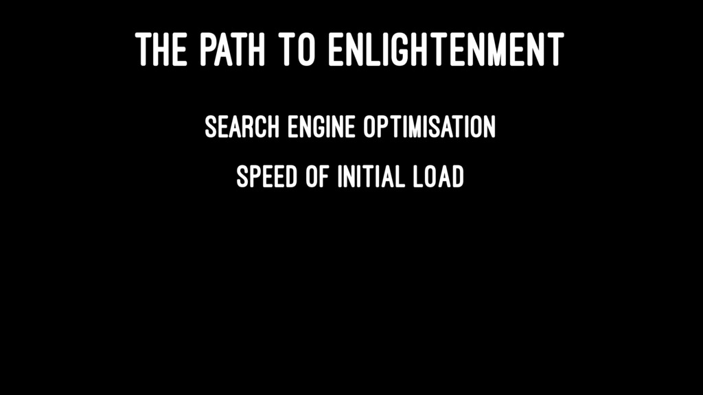 THE PATH TO ENLIGHTENMENT Search Engine Optimis...