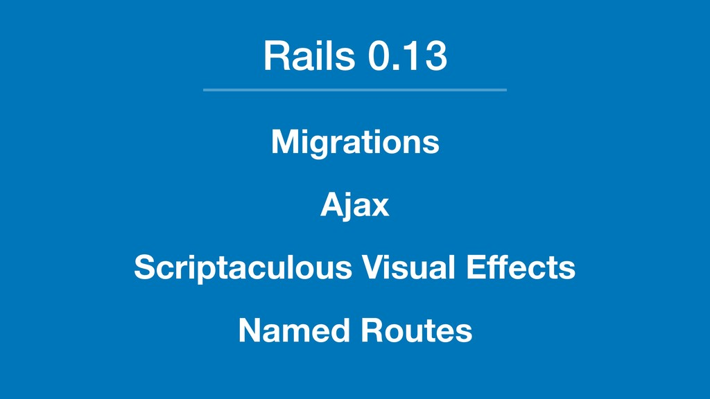 Rails 0.13 Migrations Ajax Scriptaculous Visual...