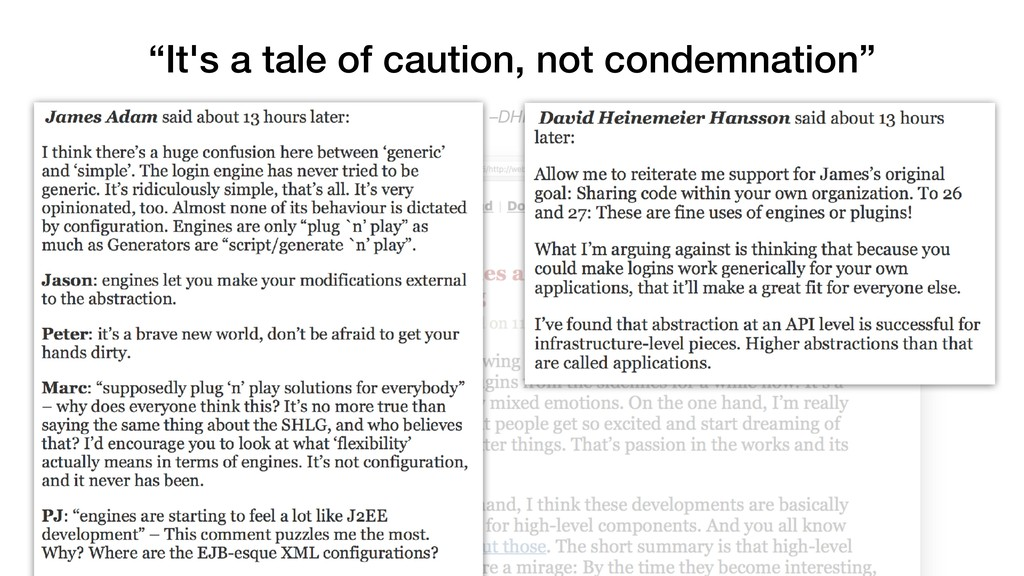 "–DHH ""It's a tale of caution, not condemnation"""