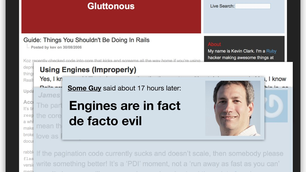 Some Guy said about 17 hours later: Engines are...