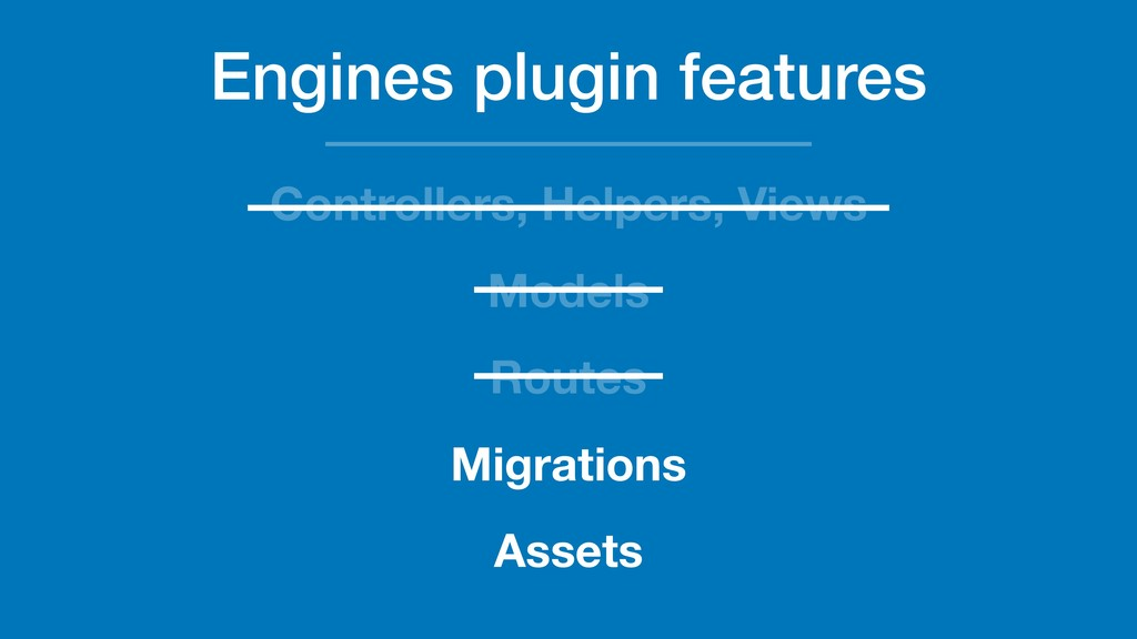 Engines plugin features Controllers, Helpers, V...