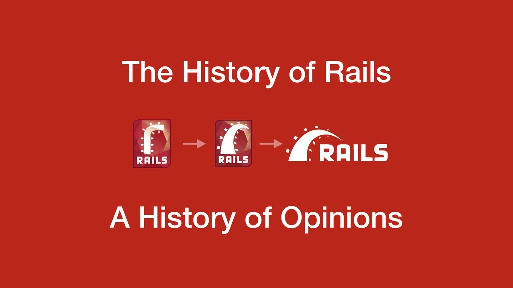 A History of Opinions The History of Rails