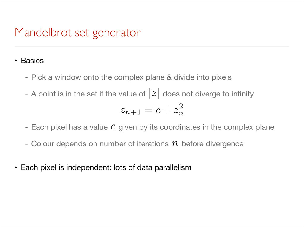 Mandelbrot set generator • Basics  - Pick a win...