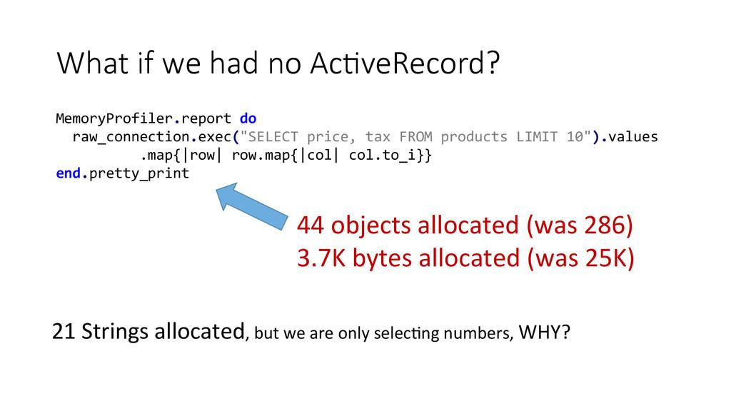 What if we had no AcEveRecord? MemoryProf...