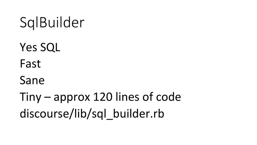 SqlBuilder Yes SQL  Fast  Sane  Ti...