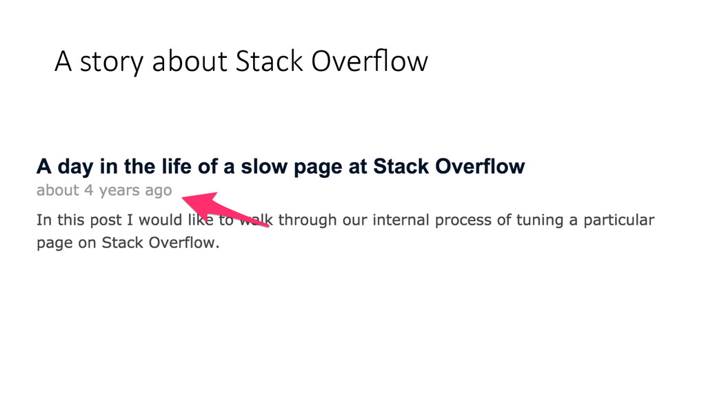 A story about Stack Overflow