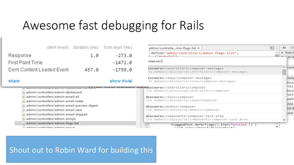 Awesome fast debugging for Rails Shout ...