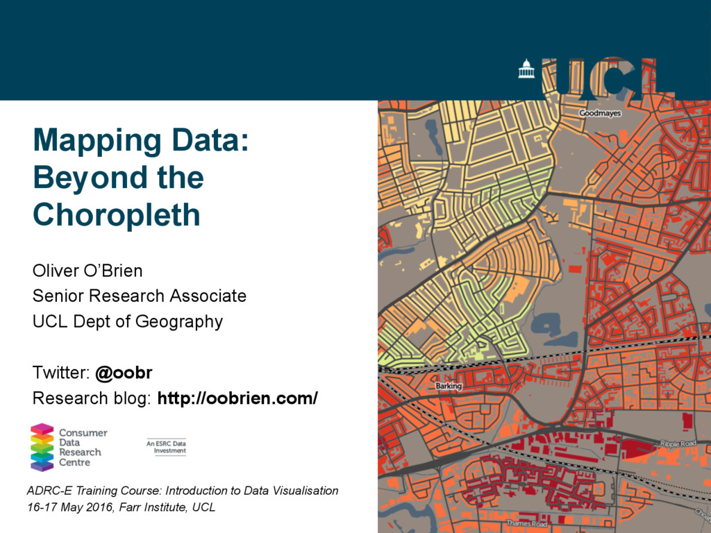 Mapping Data: Beyond the Choropleth Oliver O'Br...