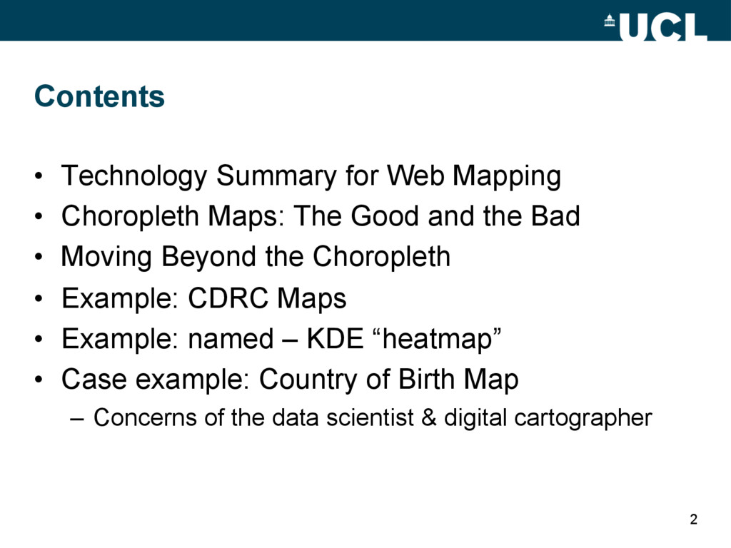 Contents • Technology Summary for Web Mapping ...