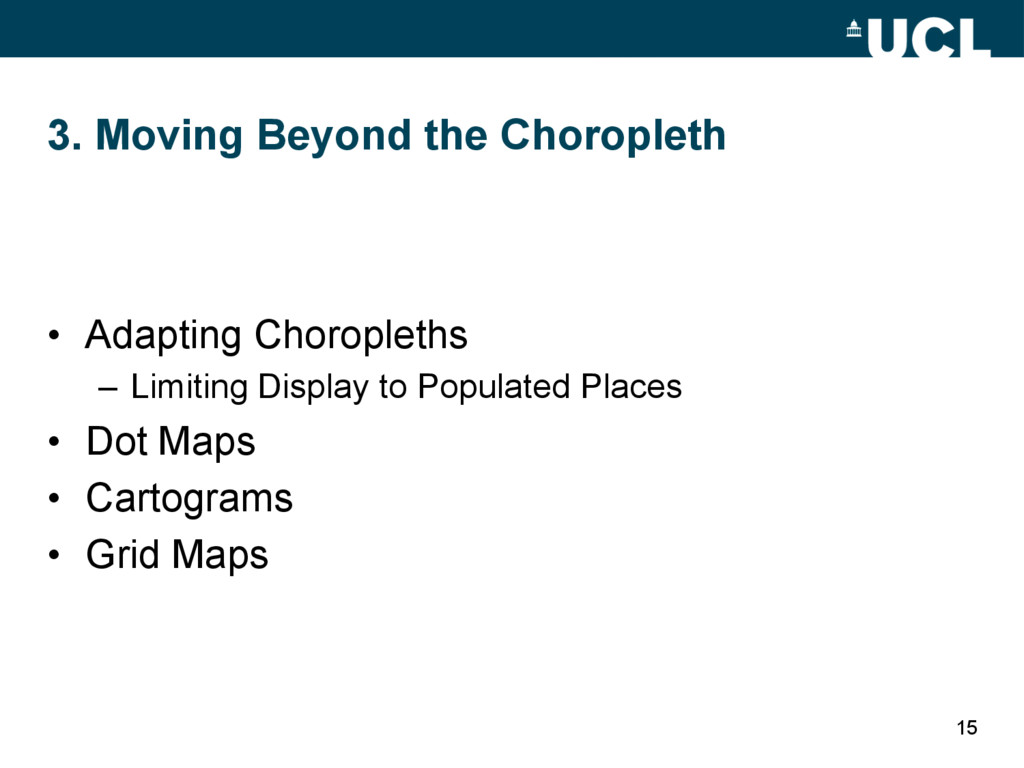 3. Moving Beyond the Choropleth • Adapting Cho...