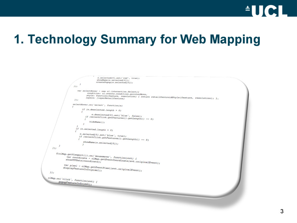 1. Technology Summary for Web Mapping 3