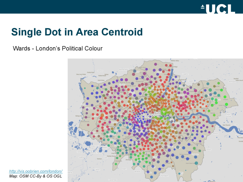 Single Dot in Area Centroid 21 Wards - London's...