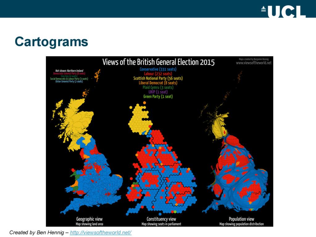 Cartograms Created by Ben Hennig – http://views...