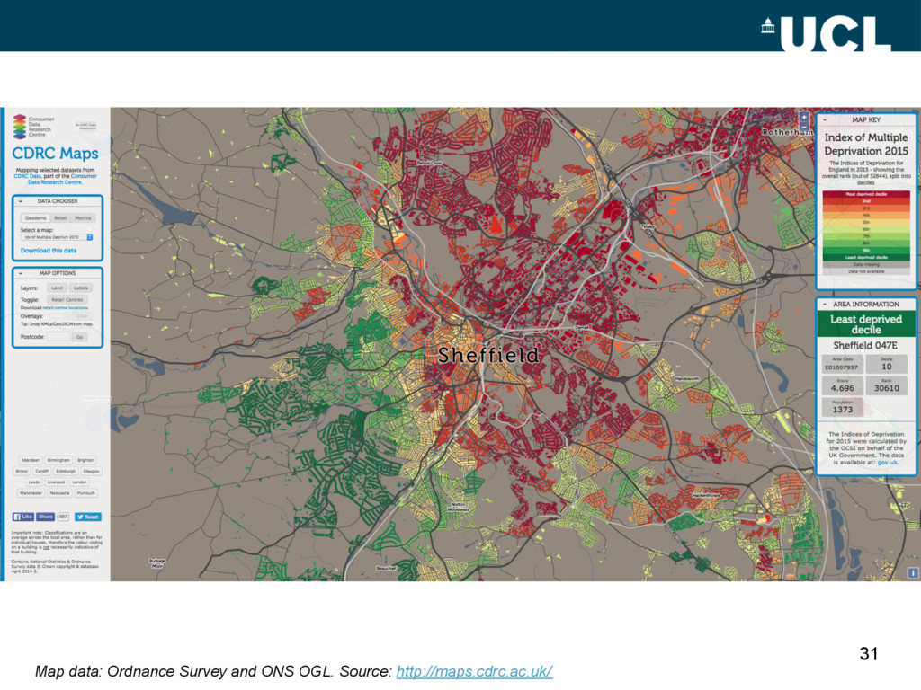 31 Map data: Ordnance Survey and ONS OGL. Sourc...