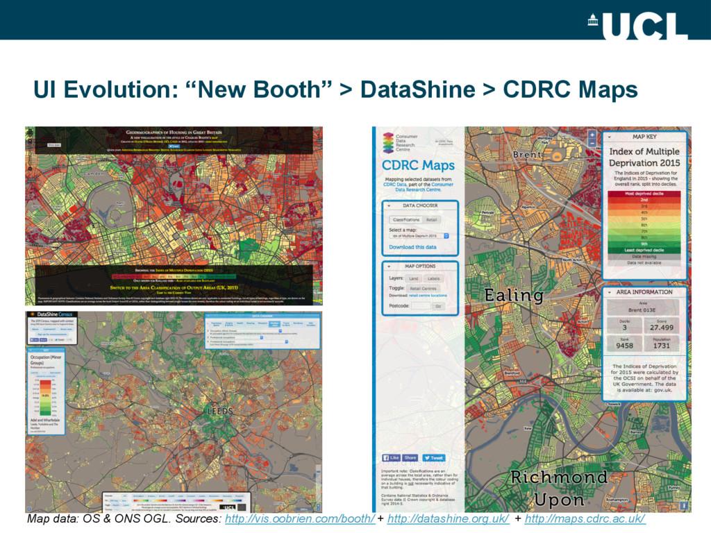 "UI Evolution: ""New Booth"" > DataShine > CDRC Ma..."