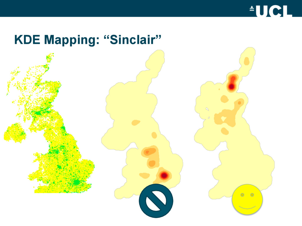 """KDE Mapping: """"Sinclair"""""""