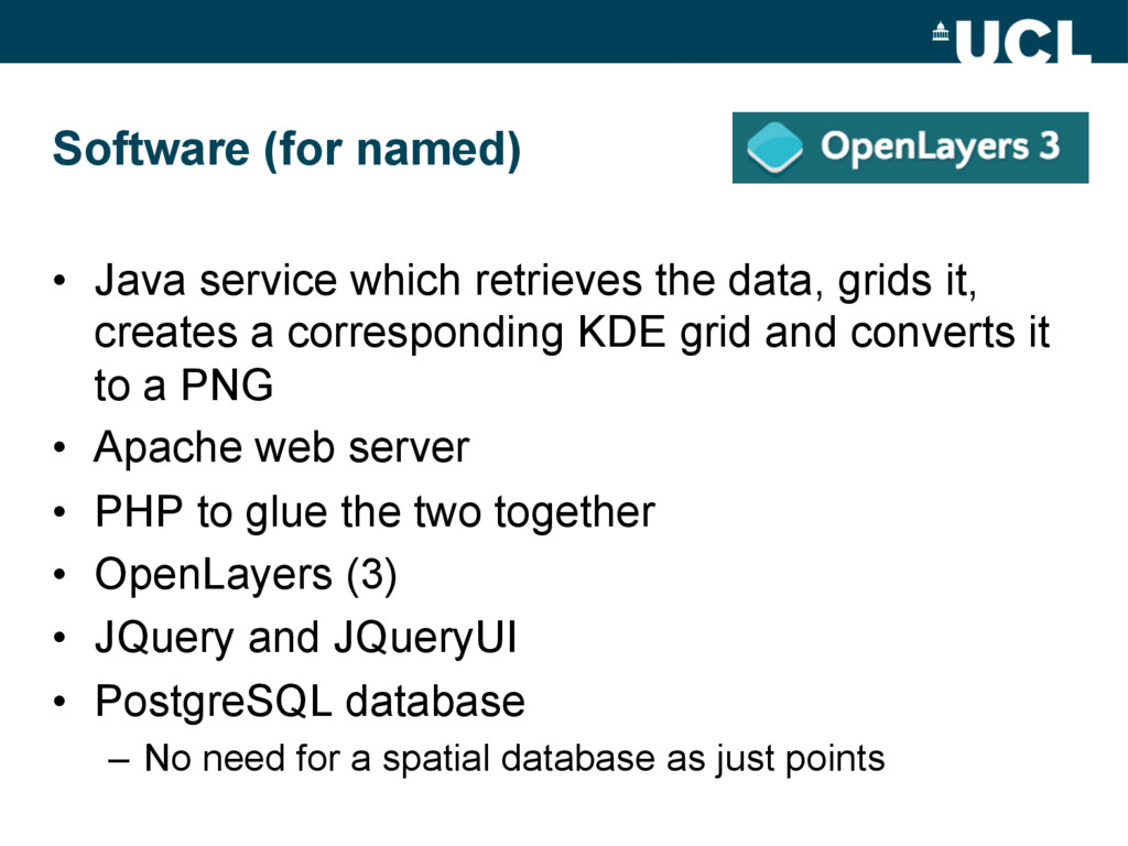 Software (for named) • Java service which retr...