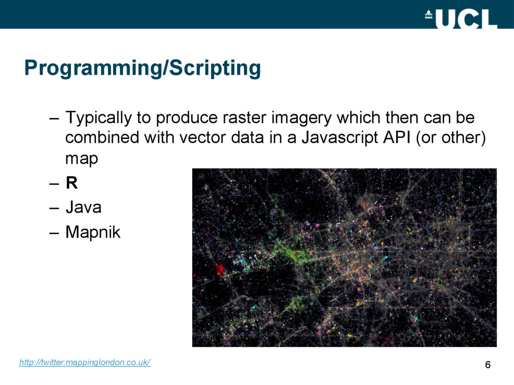 Programming/Scripting – Typically to produce r...