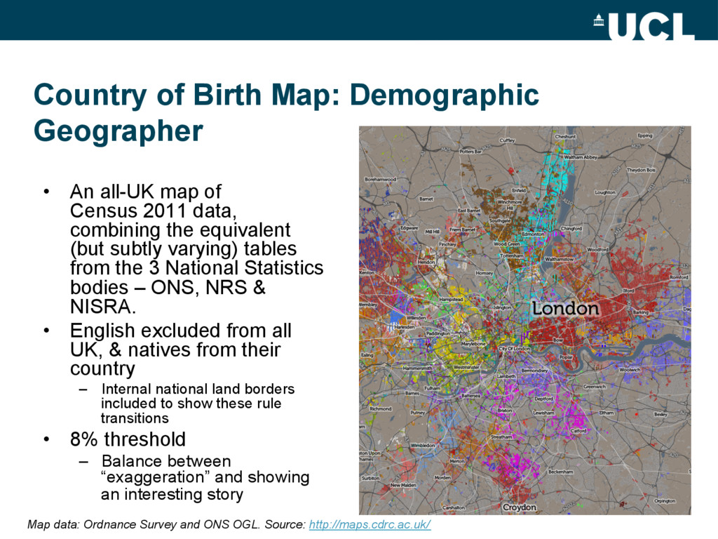• An all-UK map of Census 2011 data, combining...