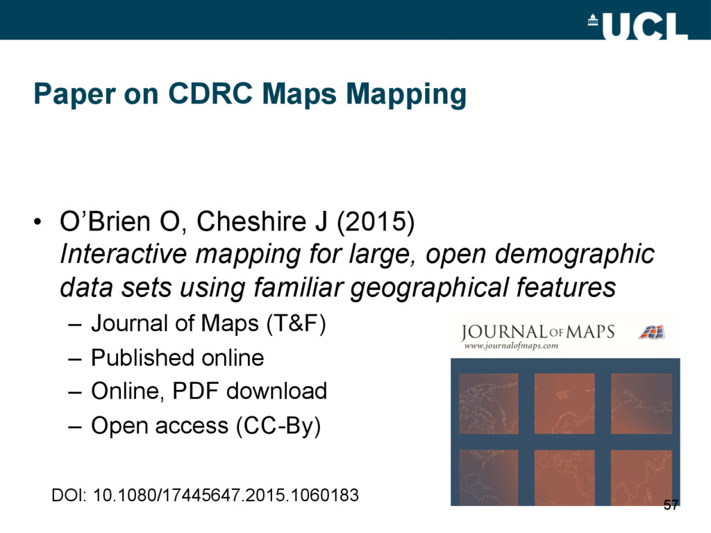 Paper on CDRC Maps Mapping • O'Brien O, Cheshi...