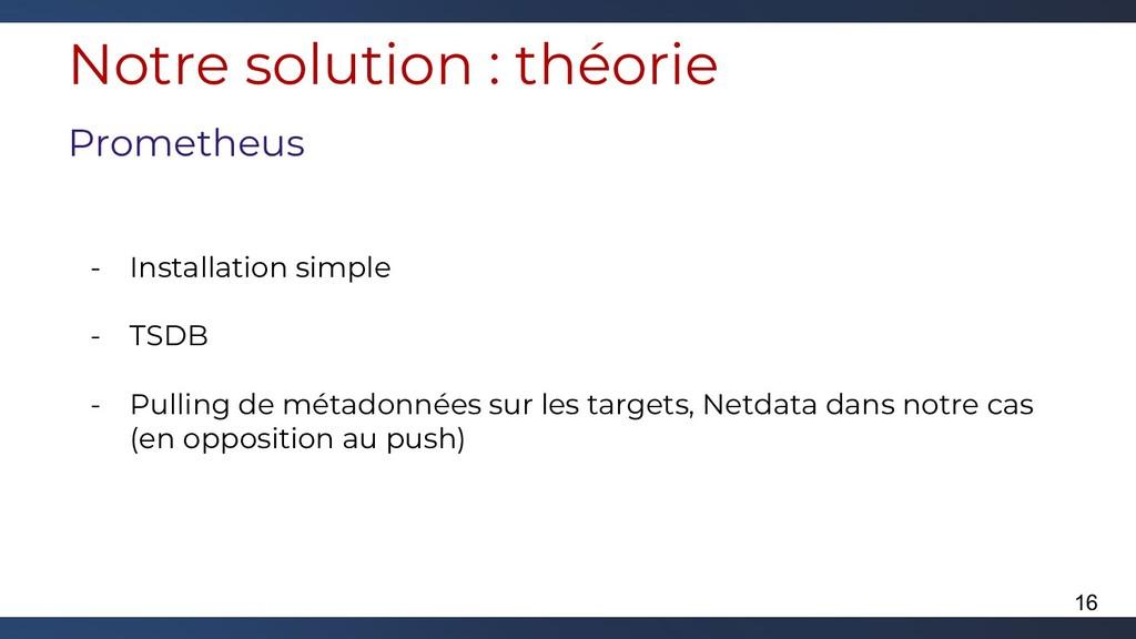 Notre solution : théorie Prometheus - Installat...