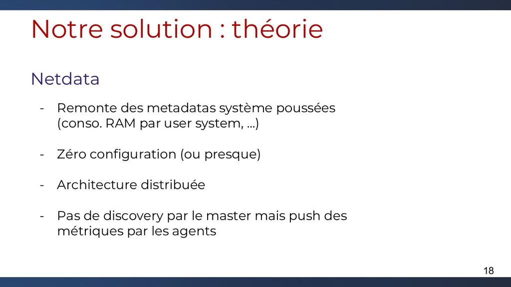 Notre solution : théorie Netdata - Remonte des ...