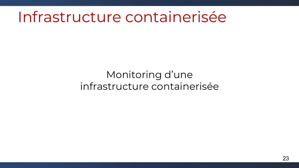 Infrastructure containerisée Monitoring d'une i...