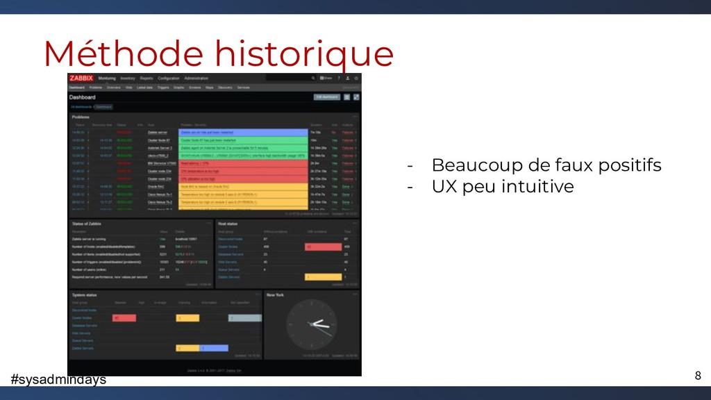 #sysadmindays Méthode historique - Beaucoup de ...