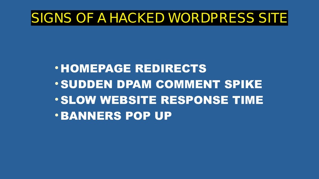 ● HOMEPAGE REDIRECTS ● SUDDEN DPAM COMMENT SPIK...