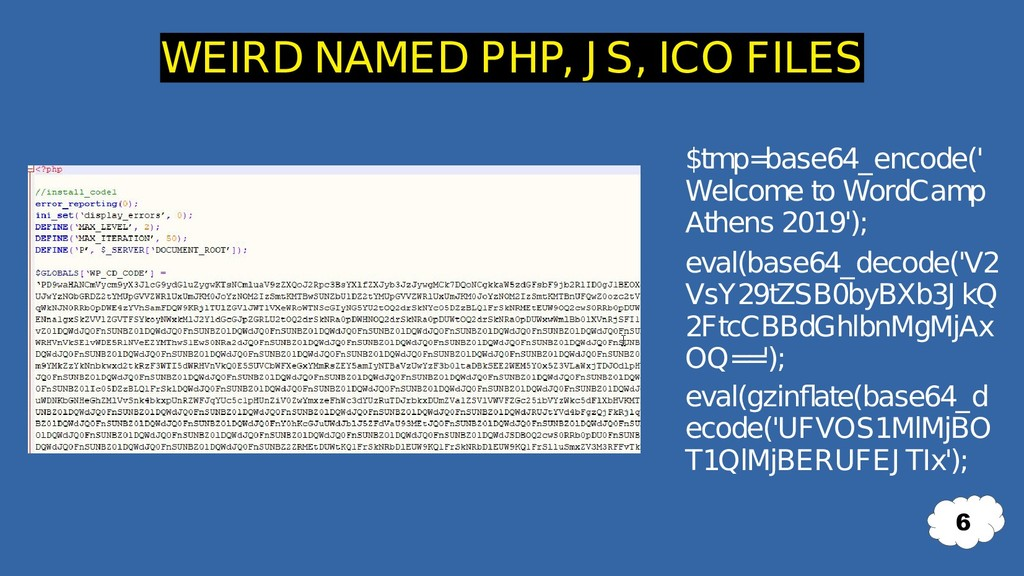 $tmp= base64_encode(' Welcome to WordCamp Athen...