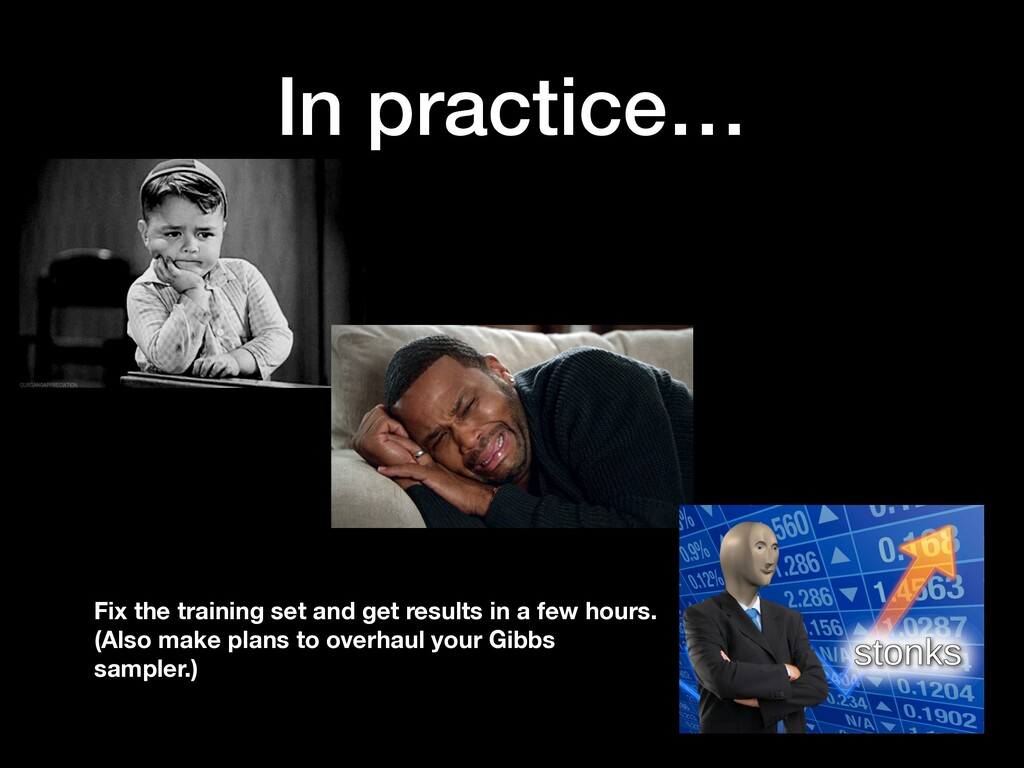 In practice… Fix the training set and get resul...