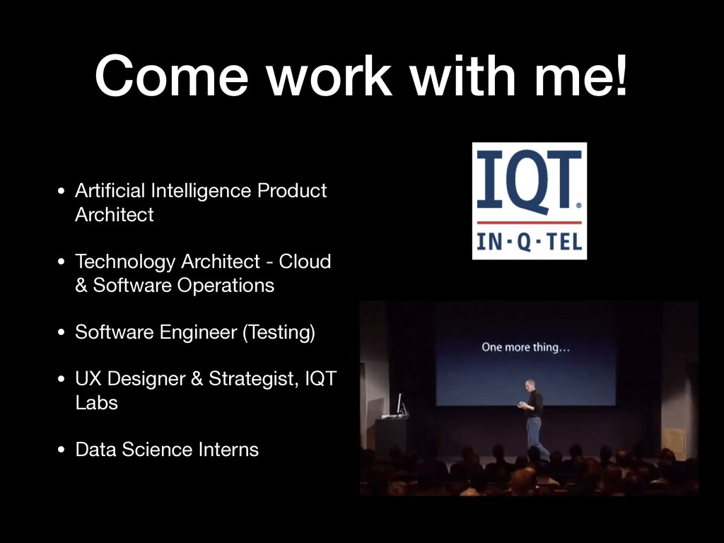 Come work with me! • Artificial Intelligence Pro...