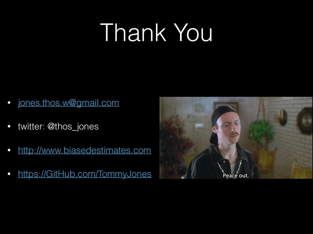 Thank You • jones.thos.w@gmail.com • twitter: @...